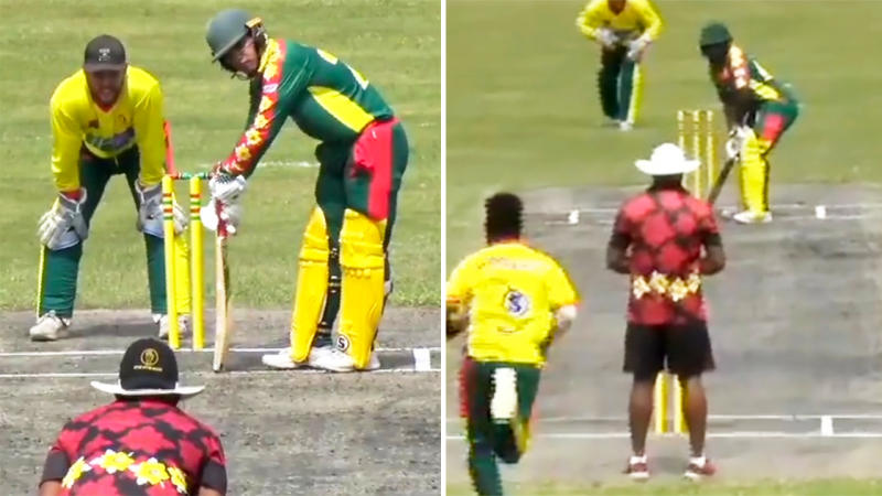 The Vanuatu Cricket Association, pictured here playing live matches amid the virus crisis.