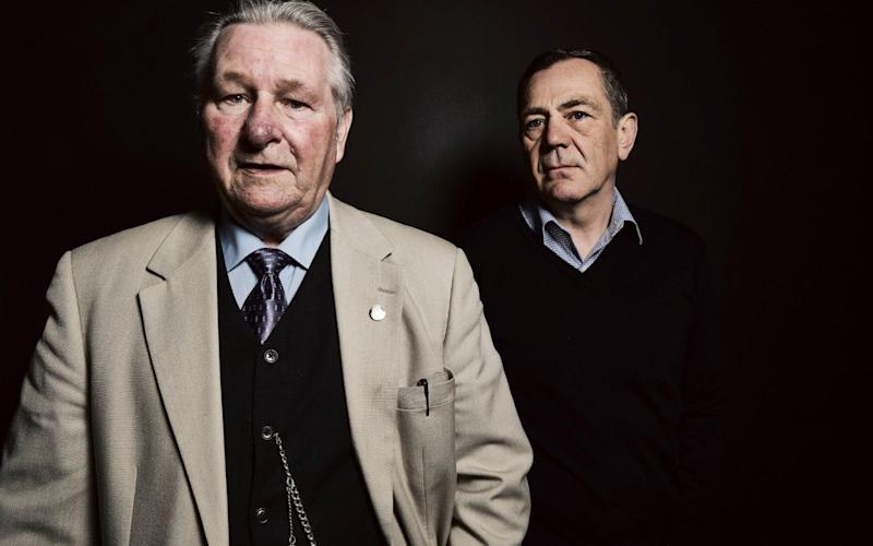 Criminologist David Wilson and convicted murderer Bert Spencer (left) in a Channel 4 documentary shot - Credit: Channel 4/Channel 4