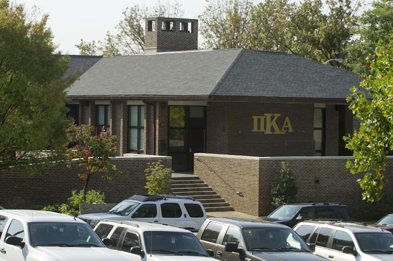 FILE - In a Tuesday, Sept. 25, 2012 file photograph, the University of Tennessee Pi Kappa Alpha fraternity house is seen in Knoxville, Tenn. The fraternity was the scene of an alcohol enema incident that sent one student to the hospital and brought unwanted attention to the university. (AP Photo/Knoxville News Sentinel, J. Miles Cary, File)