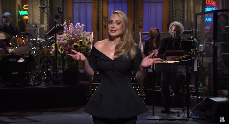 Adele was hosting Saturday Night Live for the first time (Photo: NBC)
