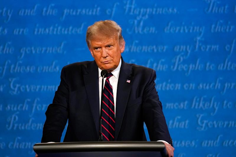 President Donald Trump expresses more concern about violence on the left than the right during his debate with Democratic challenger Joe Biden on Sept. 29 in Cleveland.