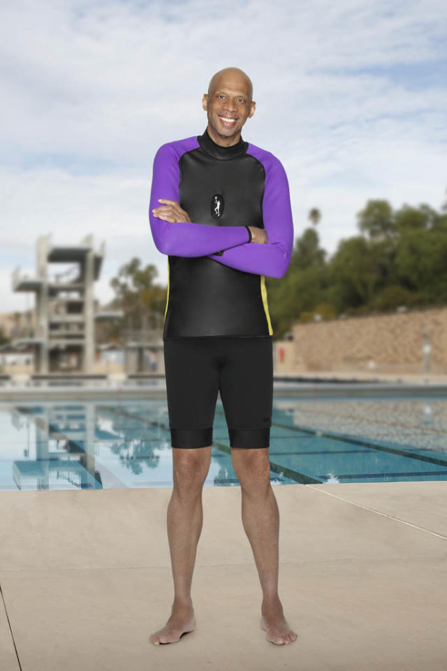 "Kareem Abdul-Jabbar competes on ABC's ""Splash."""