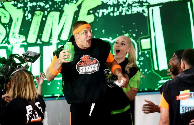 Watch Rob Gronkowski and Lindsey Vonn's Slime Showdown at Nickelodeon 'Kids' Choice Sports 2019' (Exclusive Video)