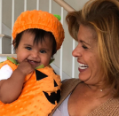 """<p>The <em>Today</em> show anchor celebrated National Pumpkin Day on Oct. 26 by picking the cutest one of all — her 8-month-old daughter, Haley Joy. """"I couldn't wait!"""" the new mom captioned this shot of her baby girl all dressed up just ahead of her first Halloween. (Photo: <a href=""""https://www.instagram.com/p/Baun_4NhT6m/?taken-by=hodakotb"""" rel=""""nofollow noopener"""" target=""""_blank"""" data-ylk=""""slk:Hoda Kotb via Instagram"""" class=""""link rapid-noclick-resp"""">Hoda Kotb via Instagram</a>) </p>"""