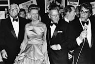 <p>Cary Grant, Dina Merrill, Frank Sinatra, and Dean Martin bring some Old Hollywood glamour into the '70s at a Las Vegas party held in Sinatra's honor in 1979. </p>