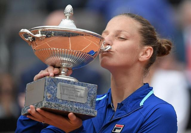 Pliskova is closing in on a return to the top of the rankings after winning in Rome (AFP Photo/Tiziana FABI)