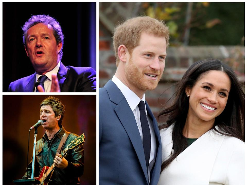 Piers Morgan and Noel Gallagher have both been vocal in their criticism of the Duke and Duchess of Sussex (Getty)