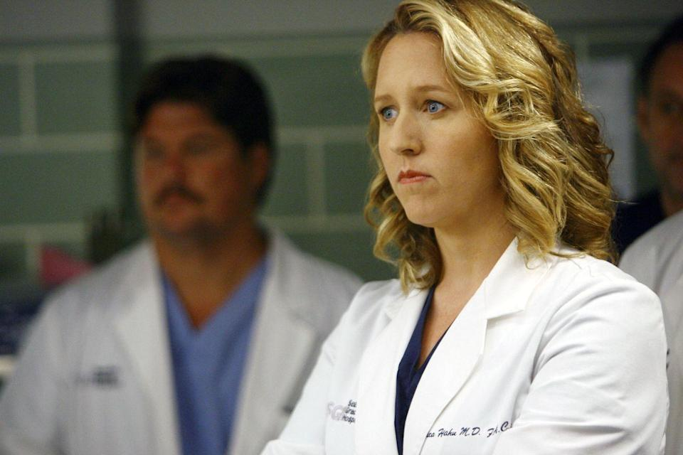 <p>Although she worked at Seattle Presbyterian when she was first introduced, Dr. Hahn eventually moved to Seattle Grace full-time and even started a romantic relationship with Callie Torres. However, when she learned the truth about Izzie's lie regarding Denny's condition, she quit abruptly, leaving the hospital (and the show) for good. </p>
