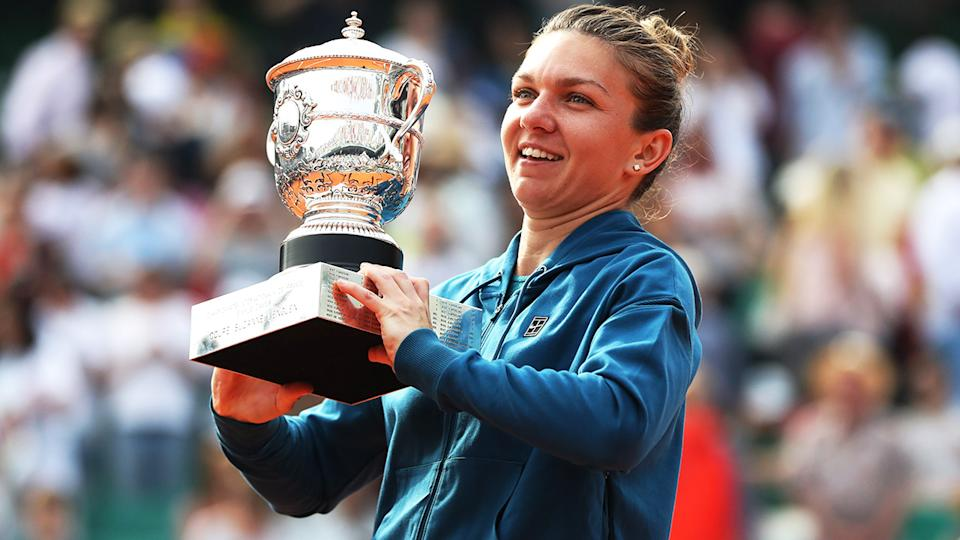Simona Halep, pictured here celebrating after winning the French Open in 2018.