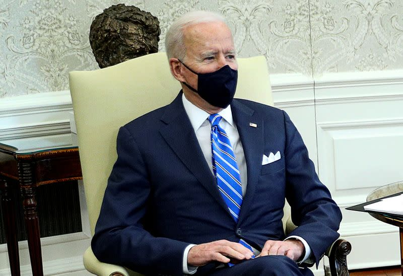 FILE PHOTO: U.S. President Joe Biden hosts meeting on infrastructure with members of Congress at the White House in Washington