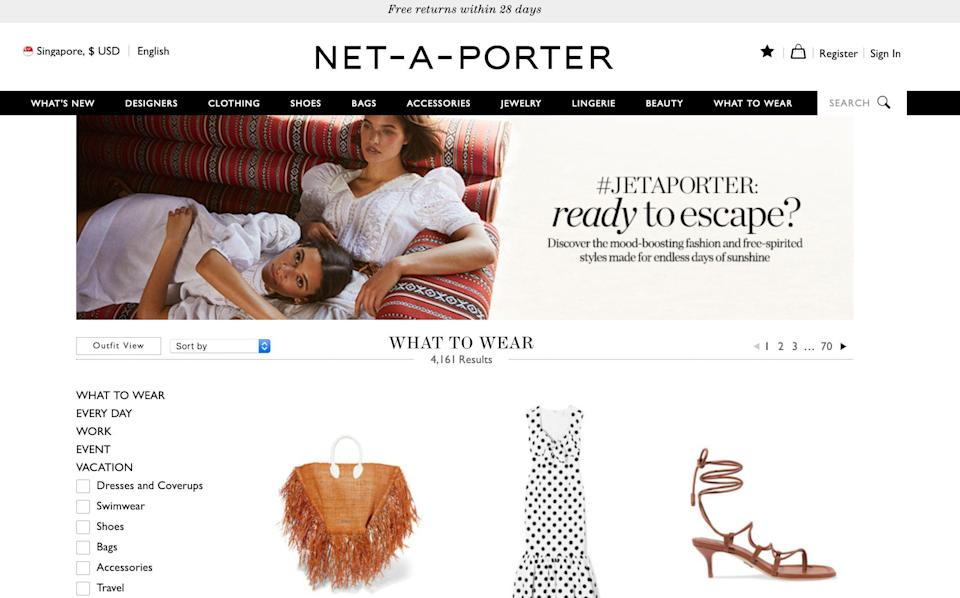 JET-A-PORTER screenshot.