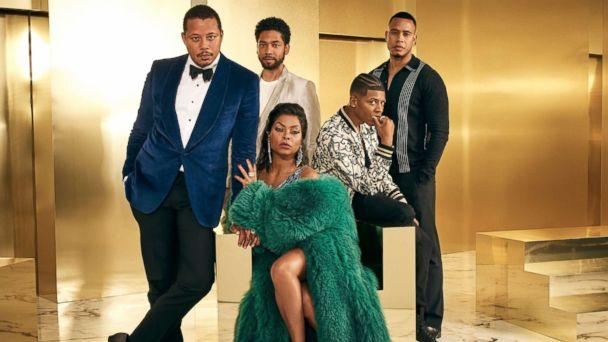 PHOTO: The cast of 'Empire,' Terrence Howard, Jussie Smollett, Bryshere Gray, Trai Byers and Taraji P. Henson, pose in a promotional image for the program. (FOX via Getty Images)