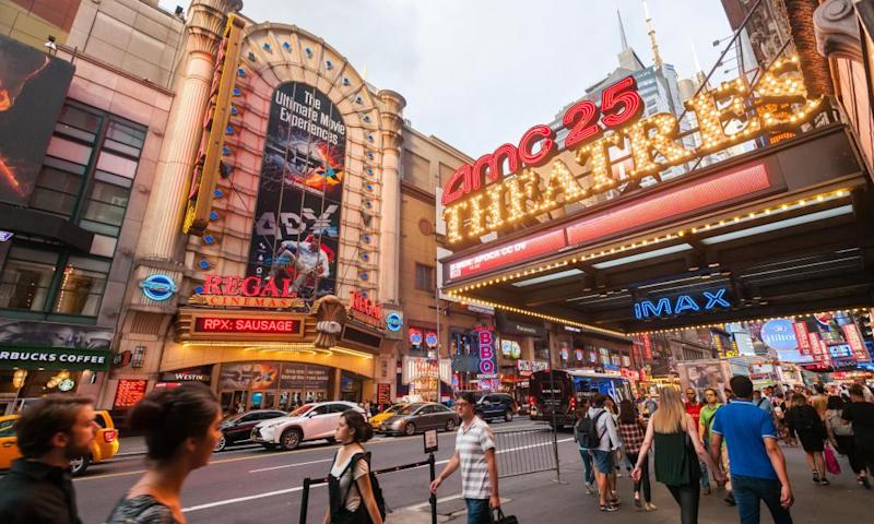 New York is among US states yet to allow cinemas to reopen.