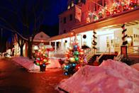 """<p>Stockbridge might look just like a Norman Rockwell painting—and that's because it is! Each year, the town re-creates the 1967 Rockwell painting, """"Stockbridge Main Street at Christmas (Home for Christmas)"""" during their <a href=""""https://stockbridgechamber.org/visit/stockbridge-main-street-at-christmas/"""" rel=""""nofollow noopener"""" target=""""_blank"""" data-ylk=""""slk:annual festival"""" class=""""link rapid-noclick-resp"""">annual festival</a>. Old-fashioned cars line the main street to re-create the painting, and the public can tour historic homes decorated for the holidays.</p><p> <a class=""""link rapid-noclick-resp"""" href=""""https://go.redirectingat.com?id=74968X1596630&url=https%3A%2F%2Fwww.tripadvisor.com%2FTourism-g41850-Stockbridge_Massachusetts-Vacations.html&sref=https%3A%2F%2Fwww.countryliving.com%2Flife%2Ftravel%2Fg2829%2Fbest-christmas-towns-in-usa%2F"""" rel=""""nofollow noopener"""" target=""""_blank"""" data-ylk=""""slk:PLAN YOUR TRIP"""">PLAN YOUR TRIP</a></p>"""