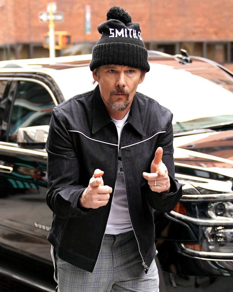 """<h1 class=""""title"""">April 11: Ethan Hawke</h1> <div class=""""caption""""> Right back at ya, Ethan Hawke. </div> <cite class=""""credit"""">JNI/Star Max</cite>"""