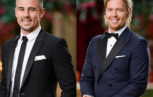 Ryan and Sam on The Bachelorette. Source: Network Ten
