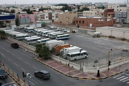 FILE PHOTO: Parking lot belonging to billionaire Maan al-Sanea is seen in Khobar