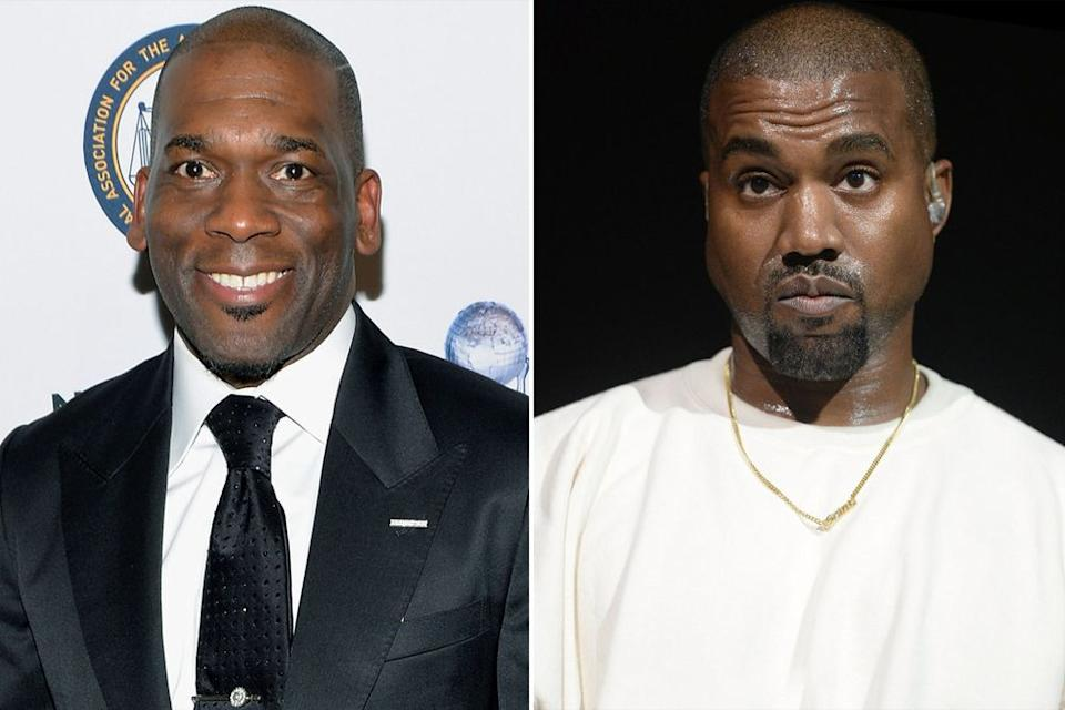 Pastor Jamal Harrison Bryant, Kanye West | Michael Tullberg/Getty Images; Scott Dudelson/FilmMagic