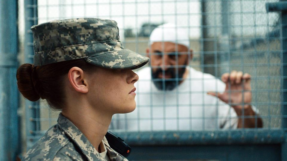 "Kristen Stewart plays a rookie guard at Guantanamo Bay in ""Camp X-Ray."""