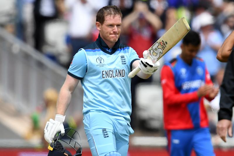 Eoin Morgan breaks AB's record as England bully Afghans