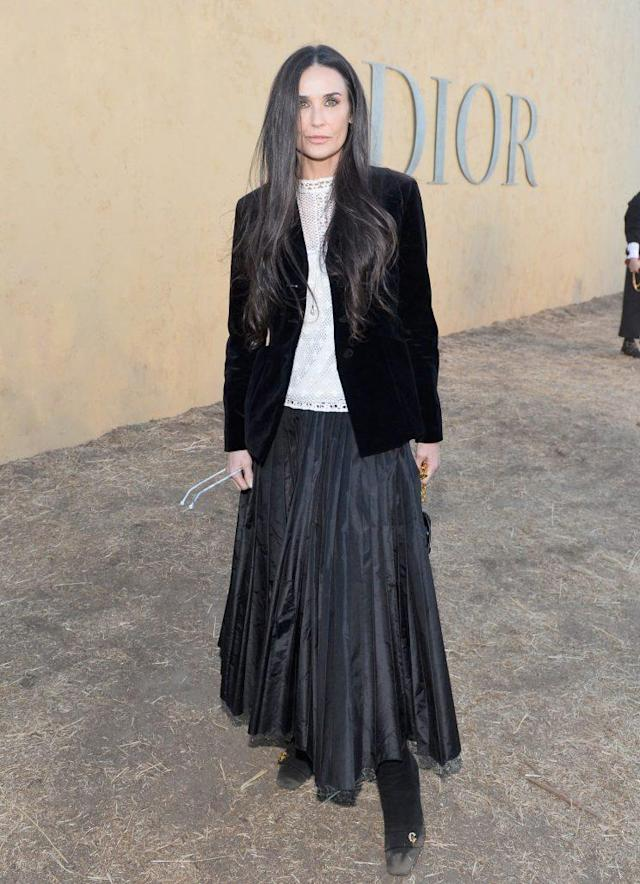 Moore attended the Dior cruise presentation in Calabasas, Calif. (Photo: Getty Images)
