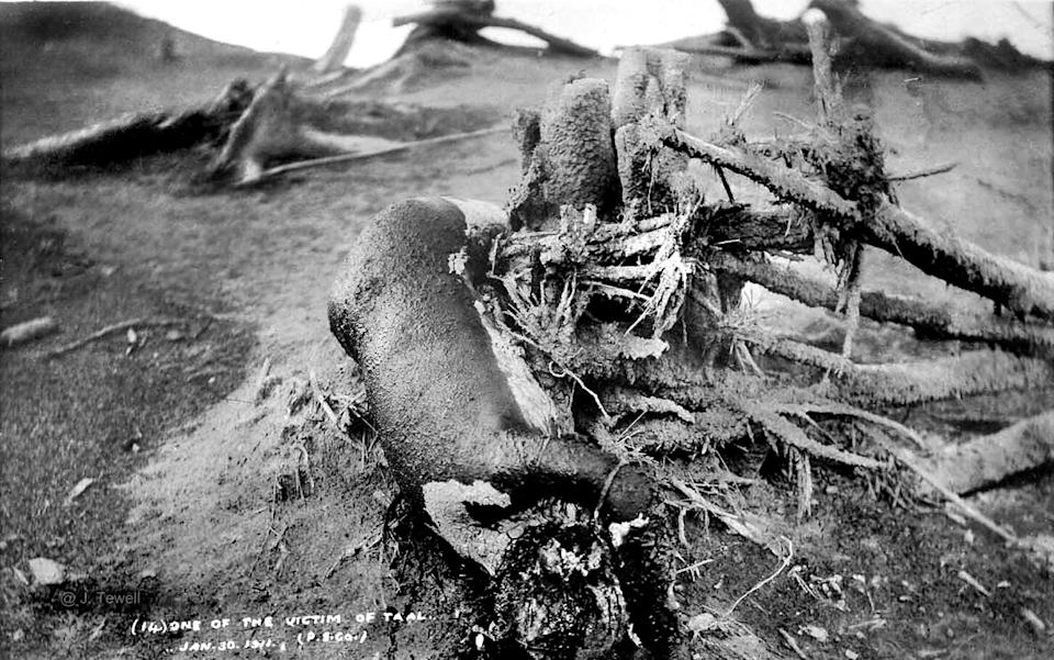 The Taal villagers who were killed died from the hot gases and mud from the eruption. No lava was found in the aftermath.