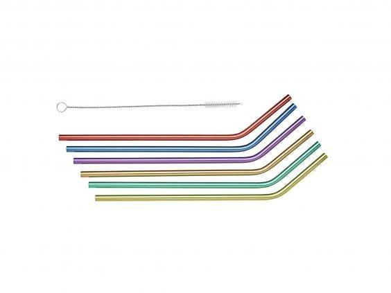 Stainless steel straws are durable, hard-wearing and an eco-friendly alternative to single-use plastic (Lakeland)