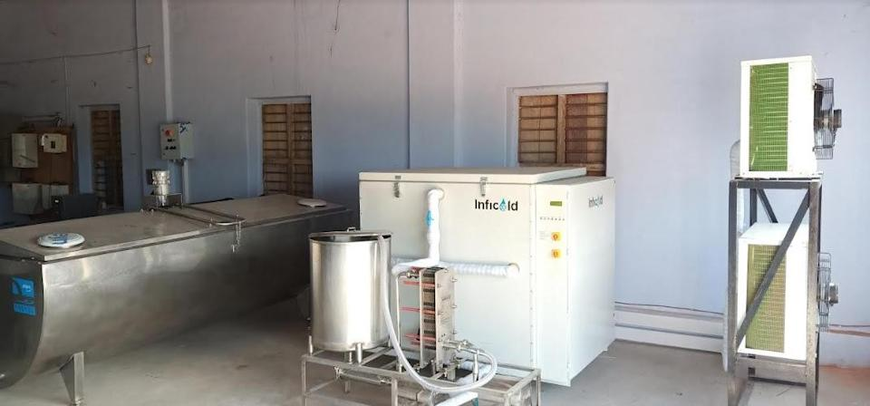 Instant Milk Cooler installed at a Milk Collection Center in Tamil Nadu