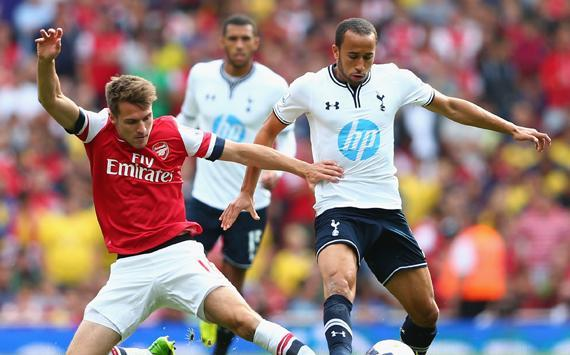 EPL - Arsenal v Tottenham, Aaron Ramsey & Andros Townsend