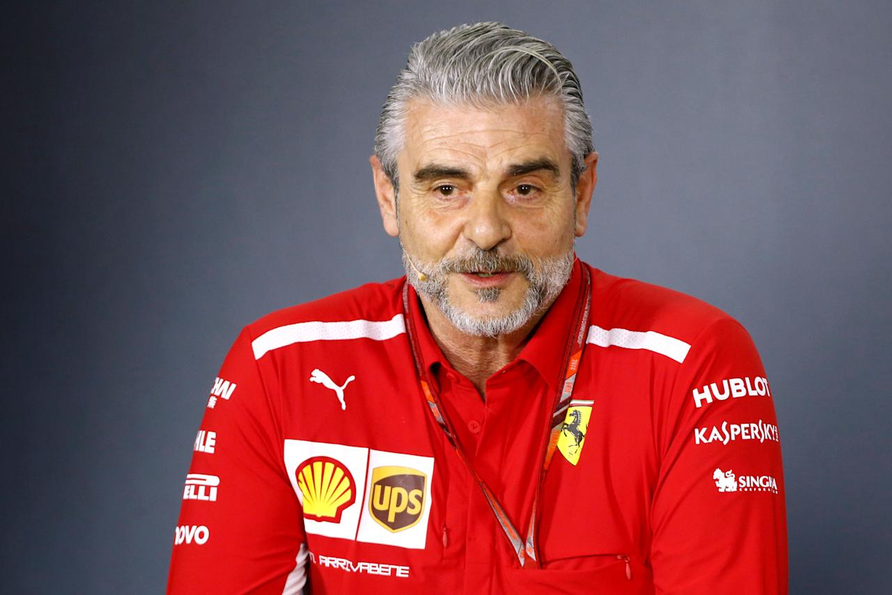 Formula One F1 - Australian Grand Prix - Melbourne Grand Prix Circuit, Melbourne, Australia - March 23, 2018  Ferrari Team Principal Maurizio Arrivabene during the press conference  REUTERS/Brandon Malone