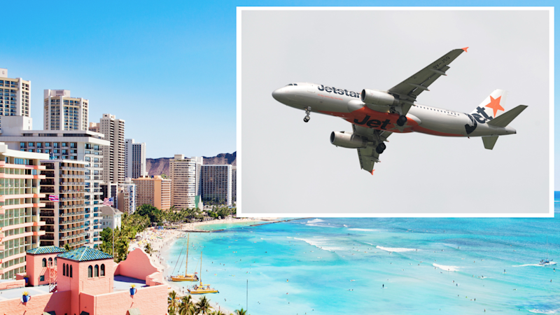 Pictured: Jetstar plane and Hawaii. Images: Getty