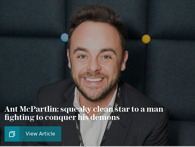 Ant McPartlin: from squeaky clean star to a man fighting to conquer his demons