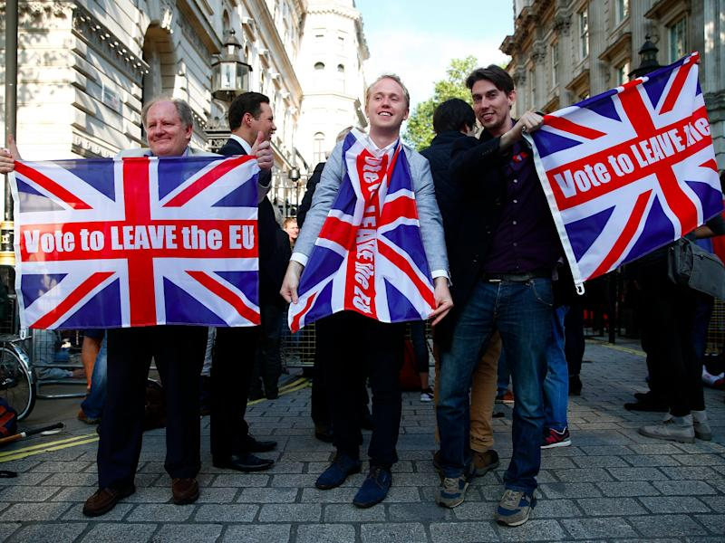 Leave Brexit supporters