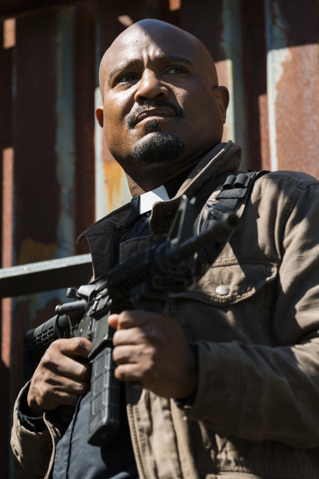 Seth Gilliam as Father Gabriel in <em>The Walking Dead.</em> (Photo: Gene Page/AMC)