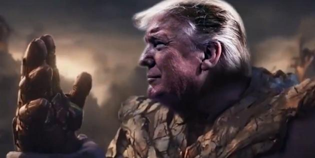 Donald Trump depicted as Avengers villain Thanos in new 2020 campaign