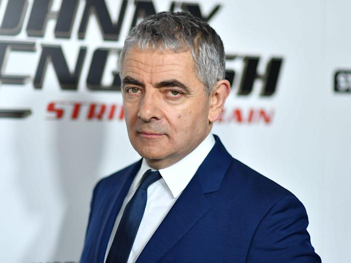 """Rowan Atkinson arrives for the special screening of """"Johnny English Strikes Again"""" at AMC Lincoln Square in New York on October 23, 2018 Getty Images"""