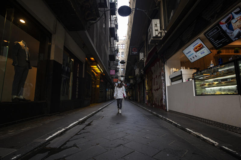 Melbourne CBD's Centre Place may be one of dozens of streets able to benefit from Mr Andrew's suggestion outside dining will be key to reviving the hospitality industry. Source: AAP