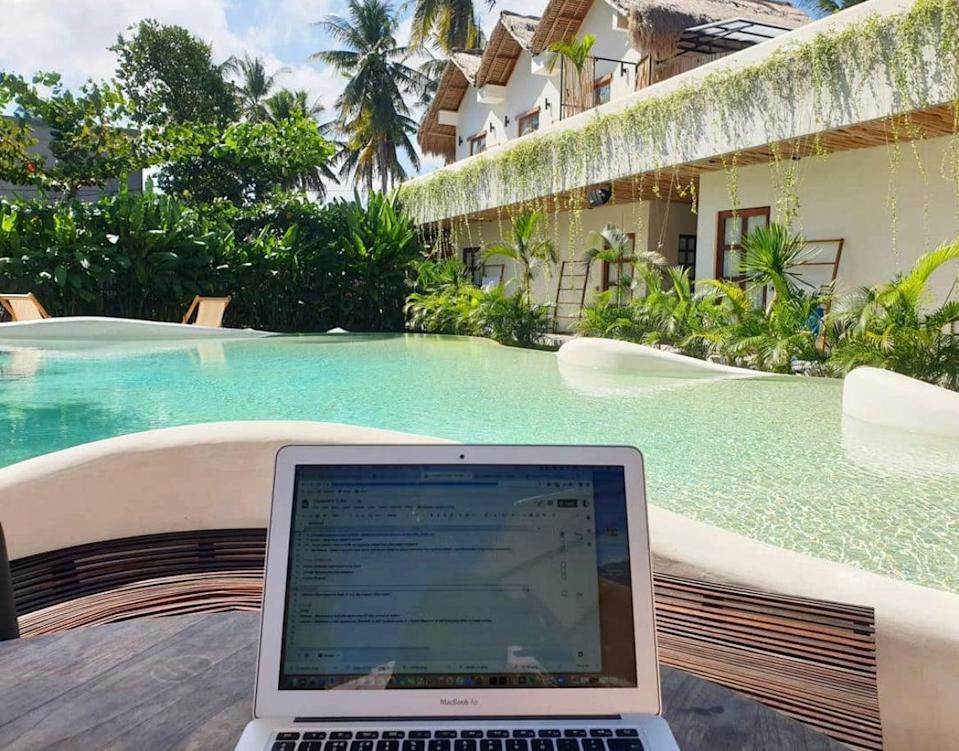 <p>At least 5,000 digital nomads were working from Canggu, Bali's zeitgeisty neighbourhood, before Covid hit</p> (Stephanie Conway)