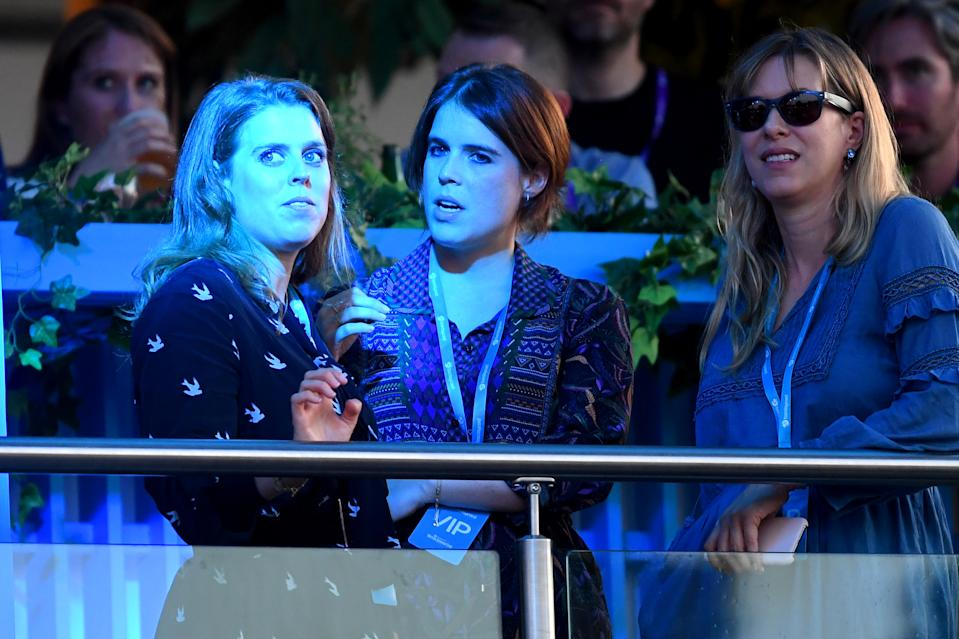LONDON, ENGLAND - JULY 05: Princess Beatrice of York (L) and Princess Eugenie attend Barclaycard Presents British Summer Time Hyde Park at Hyde Park on July 05, 2019 in London, England. (Photo by Dave J Hogan/Getty Images)
