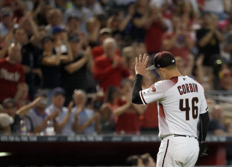 Diamondbacks starter Patrick Corbin was lights-out on Wednesday. (AP Photo/Matt York)