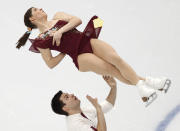 <p>Austrian figure skating pair Miriam Ziegler and Severin Kiefer are a couple on and off the ice. (AP) </p>