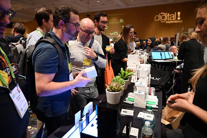 Marijuana vaping company Pax Labs shows off products at Digital Experience in connection with the Consumer Electronics Show on Jan. 7, 2019.