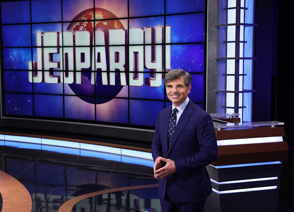 """""""Good Morning America"""" host George Stephanopoulos takes his turn as the host of """"Jeopardy"""" the week of July 12, 2021."""