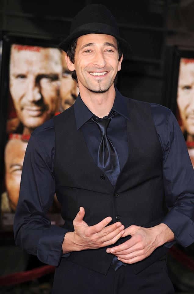 """<a href=""""http://movies.yahoo.com/movie/contributor/1800018941"""">Adrien Brody</a> at the Los Angeles premiere of <a href=""""http://movies.yahoo.com/movie/1808402981/info"""">The A-Team</a> - 06/03/2010"""