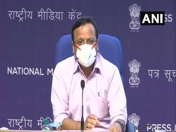Lav Agarwal, Joint Secretary at Union Health Ministry Speaking at a press briefing. (Photo/ANI)