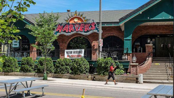 PHOTO: Harper's in East Lansing, Mich., has been closed due to a COVID-19 outbreak, June 28, 2020. (Lansing State Journal via USA Today Network)