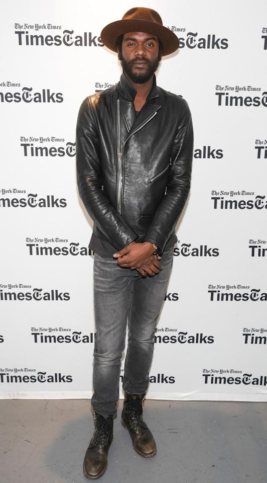 <p>WHAT: John Varvatos jeans, boots</p><p>WHERE: At a TimesTalks event in New York City</p><p>WHEN: March 22, 2017</p><p>WHY: Because rock 'n' roll style is very much alive and well.</p>