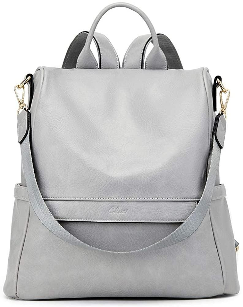 <p>This <span>Elephant Skin Pattern Backpack Shoulder Bag in Gray</span> ($38) will carry all your necessities, and it's convertible.</p>