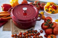 """<p><strong>Staub</strong></p><p>amazon.com</p><p><strong>$99.95</strong></p><p><a href=""""https://www.amazon.com/dp/B003G65YQ0?tag=syn-yahoo-20&ascsubtag=%5Bartid%7C2089.g.34775365%5Bsrc%7Cyahoo-us"""" rel=""""nofollow noopener"""" target=""""_blank"""" data-ylk=""""slk:BUY NOW"""" class=""""link rapid-noclick-resp"""">BUY NOW</a></p><p>A great piece of cast-iron is the gift that keeps on giving. Not only can this cookware distribute heat more evenly and efficiently, but it can also add some extra flavor to your meal. Staub's four-quart cocotte usually costs $400, but Amazon's selling it for just under $100. <em>Wow</em>. </p>"""