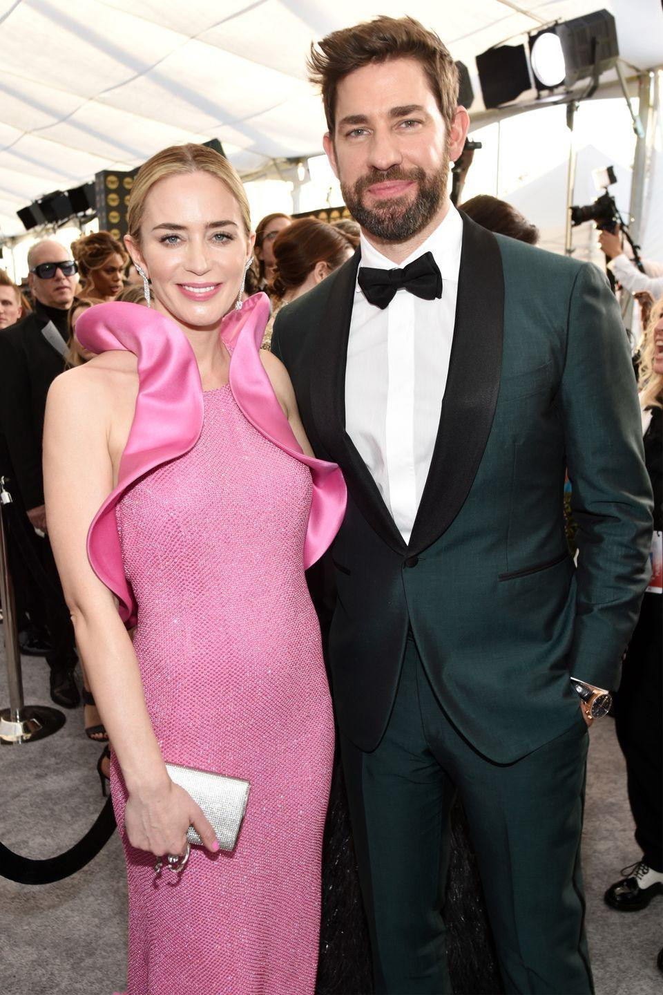 "<p>John Krasinski knew Emily Blunt would be his future wife when they initially met. ""Then I met her and I was so nervous. I was like, 'Oh God, I think I'm going to fall in love with her.' As I shook her hand I went, 'I like you,'"" he <a href=""https://www.youtube.com/watch?v=7iN_5byfPs8"" rel=""nofollow noopener"" target=""_blank"" data-ylk=""slk:recalled on The Ellen Show"" class=""link rapid-noclick-resp"">recalled on <em>The Ellen Show</em></a>.</p><p>The two got engaged within a year of meeting, and had an intimate <a href=""https://www.eonline.com/photos/6467/celebrity-weddings-in-italy/225135"" rel=""nofollow noopener"" target=""_blank"" data-ylk=""slk:wedding ceremony"" class=""link rapid-noclick-resp"">wedding ceremony</a> in 2010 at George Clooney's infamous Lake Como home. They now have two children together, daughters Hazel and Violet. </p>"